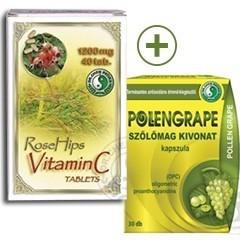 Pollengrape és C-vitamin kapszula csomag - 1 csom