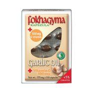 Cesnakový olej a vitamínom C v kapsulách