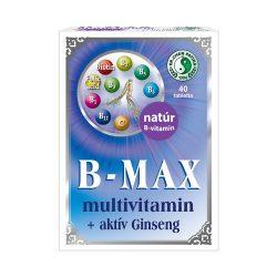 B-Max multivitamin tablets + active Ginseng