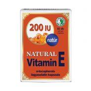 Prírodný vitamín E kapsuly 200 mg