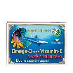 Omega-3 soft gel capsules with vitamin E