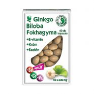 Ginkgo biloba and garlic capsules
