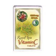 Rose Hips Prírodný vitamín C s výťažkom zo šípok Tablety