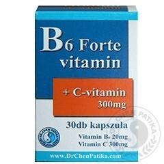 B6 Forte kapszula C-vitaminnal - 30db