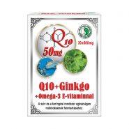 Q10 + Ginkgo + Omega-3-Kapseln