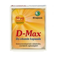 D-Max Capsule – 50 µg vitamin D3 by capsule