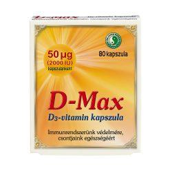 D-Max kapsuly – 50 µg vitamínu D3 v každej kapsule Výživový doplnok