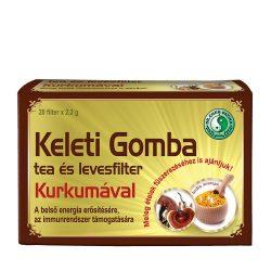 Keleti Gomba tea és levesfilter Kurkumával