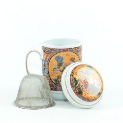 Teásbögre porcelán szűrővel