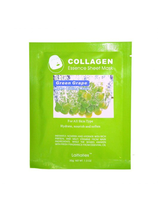 Face mask with grapes extract