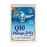 Q10-Koenzim Omega-3 kapszula E-vitaminnal