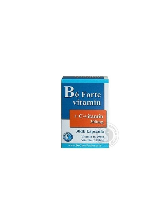 B6 Forte caps with Vitamin C - 30pcs