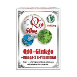 Q10 + Ginkgo + Omega-3 capsules