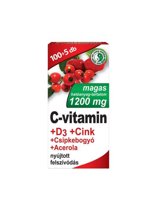 1200 mg C-vitamin + D3-vitamin